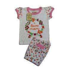 Andri Collection - Baju Bayi Oganik Cotton I Love Mom Bersertifikasi SNI & GOTS - White