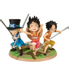 Anime One Set Figure Ace Luffy Sabo Promise Of Brothers Statue Collectible PVC Action Figure Cartoon Figurine