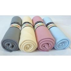 BABY Bedong Bayi Kaos Multi CUSTOM Isi 4 pcs/ Selimut Bayi / Alas bayi Warna (Sky, Rose, Lemon, Grey) Bahan Halus
