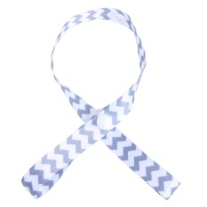 Baby PaciGrip Pacifier Holder Loop Strong Clasp Wave (White + Blue) - intl