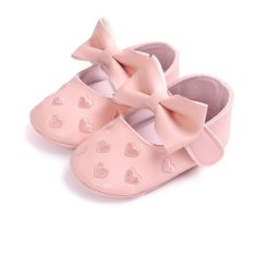 Baby PU Leather Moccasins Shoes Bow Tie Soft Soled Non-slip Footwear Crib Shoes - intl