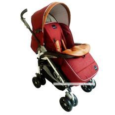 Babyelle New Polaris Stroller Single S-323 - Baby Elle Polaris Baby Stroller - Kereta Dorong Bayi - Merah
