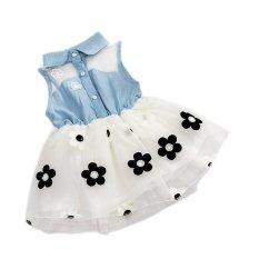Baju Bayi Perempuan Fashion Musim Panas (Putih)