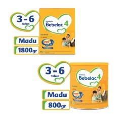 Bebelac 4 Bebenutri Plus Susu Pertumbuhan - Madu - 800 gr + 1800gr - Value Bundle