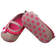 Bluelans® bayi balita bayi perempuan sepatu bunga Prewalker 0-18 bulan Babyshoes dril