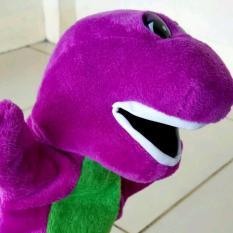 Boneka Tangan Barney 25 cm