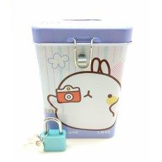 Celengan Kaleng Kotak Gembok Mini Mol / Souvenir Kado - S213