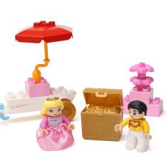 Children Puzzle Toy Building Block Prince Snow Castle
