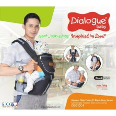 DIALOGUE BABY GENDONGAN HIPSEAT DGG 1004 BLACK GREY PLAIN COLOUR SERIES