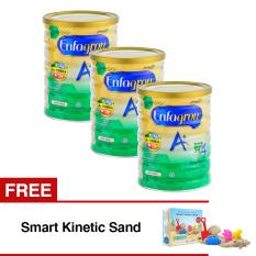 Enfagrow A+ 4 Susu Pertumbuhan - Vanila - 800 gr Tin isi 3 Kaleng + Gratis Smart Kinetic Sand