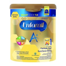 Enfamil A+ 1 Susu Bayi Smart Lock Tub - Plain - 800 gr