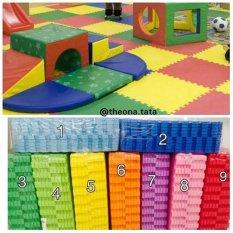 Evamat Polos / Matras / Tikar / Karpet / Puzzle Alas Lantai Evamat Ukuran 30 x 30 cm Hijau Tua