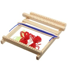 FC Medium Traditional Wooden Weaving Toy Loom With Accessorieschildrens Craft Box - intl