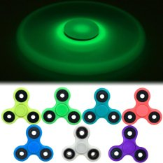 Fidget Spinner Glow in the Dark Hand Toys Mainan Tri Spinner EDC Ceramic .
