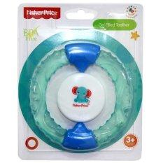 Fisher Price Gel Filled Teether Bayi Warna Biru Dengan Rattle Atau Krincingan Mainan Gigitan Bayi Yang Aman Untuk Usia 3 Bulan ke Atas Free Ongkir