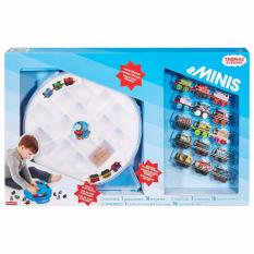 FISHER PRICE Thomas & Friends Minis Mega Set with 15 Engines, 1 Special Golden Thomas Engine, 1 Playwheel Case Collection