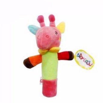 Freeshop Boneka Rattle Stick Donkey Buffalo Baby Grow S203 - Pink
