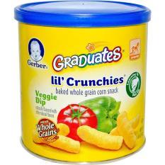 Gerber Graduates Lil Crunchies Veggy Dip (Snack makanan Bayi dan anak) RASA Veggie Dip Lezat dan Enak untuk usia 6 bulan sampai 4 tahun