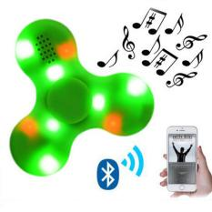 Great Fidget Spinner with Built in LED Bluetooth Speaker Hand Spinner Tri Finger Spinning Top Decompression Finger Toys Limited Edition - Hijau