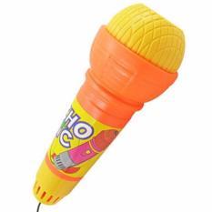 Hequ populer mainan plastik Echo mikrofon mikrofon Voice Changer hadiah ulang tahun hadiah mainan anak-anak lagu pesta warna acak - International