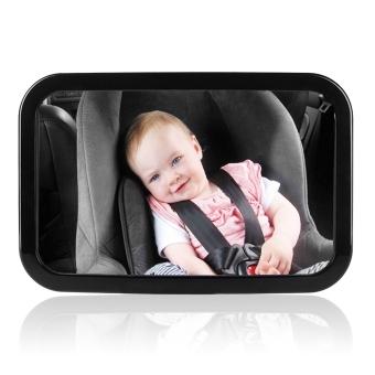 Spion Pengaman Bayi, Spion Besar untuk Melihat Bayi di Belakang yang sesuai dengan sandaran kepala apa saja yang bisa diper setelel, putar, miringkan, 100% tahan banting
