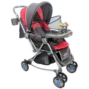 harga BabyDoes Shoxer T4 CH-267LF - Baby Stroller Kereta Dorong Bayi - Merah Lazada.co.id