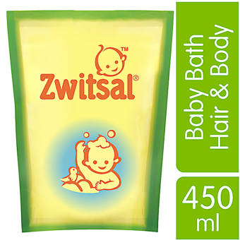 Zwitsal Baby Bath Natural 2in1 Hair & Body Refill - Pouch - 450mL