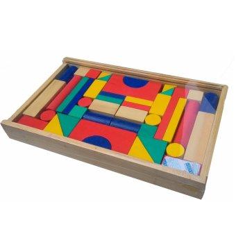 Atham - Toys Balok Bangun Kayu 42 S. >>>>