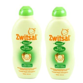 Zwitsal Natural Baby Hair Lotion Aloe Vera 100ml - 2 Pcs