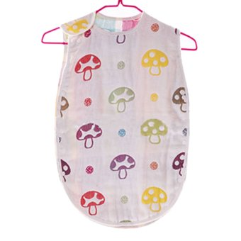 360DSC Mushroom Cotton Baby Sleep Sack 6-Layer Vest Type Baby Sleeping Bag Wearable Blanket 45*80cm - Intl