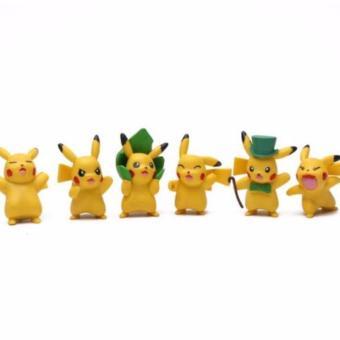 Harga Terbaru AHS Figure Pikachu Isi 6 Mainan Anak Figure Pokemon - Yellow
