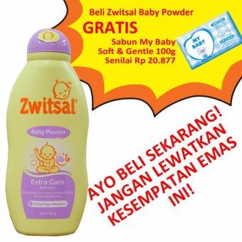 Zwitsal Baby Powder Extra Care 100g + BONUS Zwitsal Baby Powder Extra Care 100g