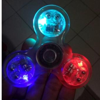 Hand Fidget Spinner Lampu Transparan Saklar/Spiner Transparan On Off ..