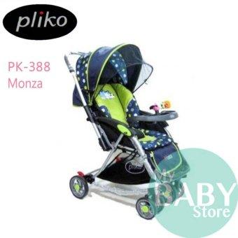 harga Pliko PK-388 Monza Baby Stroller - Kereta Dorong Bayi (Hijau) Lazada.co.id