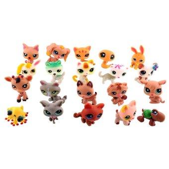 Black Shop International Mini 20 Pcs Littlest Pet Shop Dog LooseRandom Child Girl Toys Lpsgift - intl