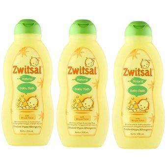 Zwitsal Baby Bath Natural Minyak Telon 200ml - 3 Pcs