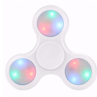 Harga Fidget Spinner LED Hand Toys Tri Spinner Led Ball Focus Games – Putih Murah