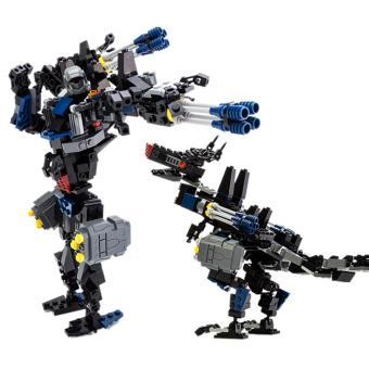 360DSC Children Kids Educational Blocks Toys Deformation Series DIY Block Toy Set - Dinosaur - intl