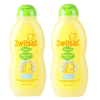 Zwitsal Baby Bath Natural 2in1 Hair & Body 200ml - 2 Pcs