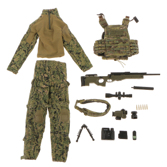 """BolehDeals 1/6 U.S Special Warfare Sniper Clothes Suit Set Fit 12\"""" ZY Toys Army Green"""