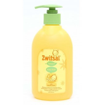 Zwitsal Baby Bath Natural with Minyak Telon Pump 300 ml