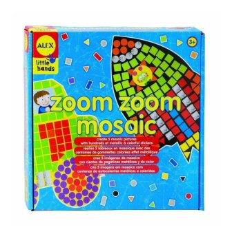 Zoom Zoom Mosaic - vehicle arts and crafts set - intl