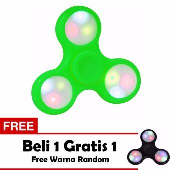 Fidget Spinner LED Hand Toys Mainan Tri-Spinner EDC Ceramic Ball Focus Games Lampu Led