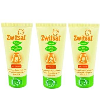 Zwitsal Natural Baby Skin Protector Lotion Tube 50ml - 3 Pcs