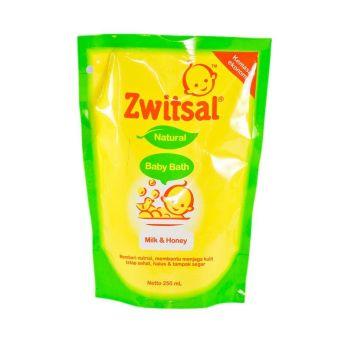Zwitsal Natural Baby Bath Milk & Honey Refill 250ml - 2 Pcs