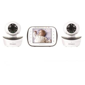 GPL/ Motorola Digital Video Baby Monitor with 2 Cameras, 3.5 Inch Color Video Screen, Infrared Night Vision, with Camera Pan, Tilt, and Zoom/ship from USA - intl