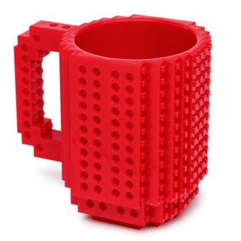 360DSC Creative and Funny Brick Mug Building Blocks Coffee Tea Cup DIY Block Puzzle Mug - Red - intl