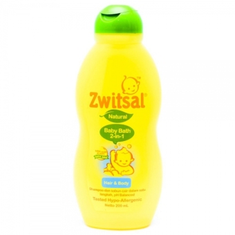 Zwitsal Baby Bath Natural 2in1 200ml - ZBB025