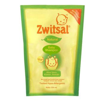Zwitsal Baby Shampoo Natural Avks Refill - Pouch - 250mL