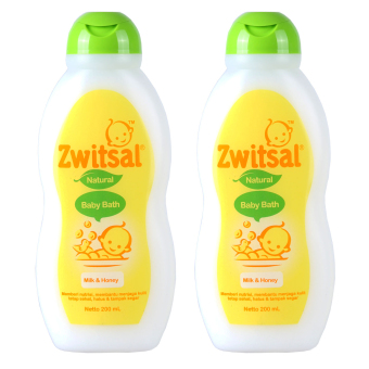 Zwitsal Baby Bath Milk & Honey 200ml - 2 Pcs